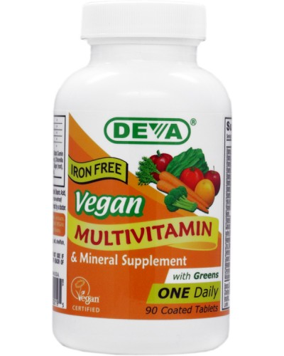 Vegetarian / Vegan Iron Free Multivitamin & Mineral Supplement, One Daily