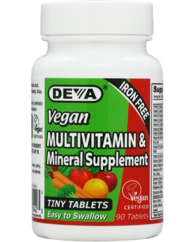 Vegan Tiny Tablets Multivitamin & Mineral Supplement - easy to swallow Iron Free