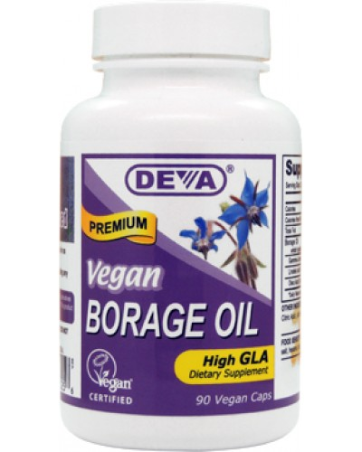 Vegan Borage Oil, Unrefined, Cold Pressed, potent GLA source