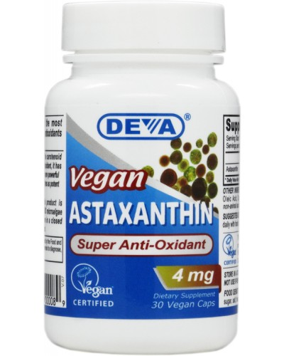 Vegetarian / Vegan Astaxanthin 4 mg - Super Carotenoid from Algae