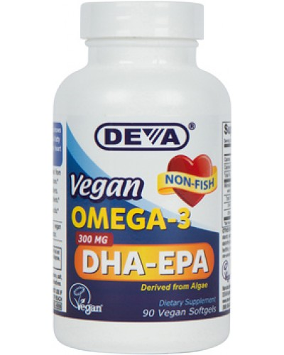 Vegan 300 mg Potency Omega-3 DHA-EPA Veg-Softgels